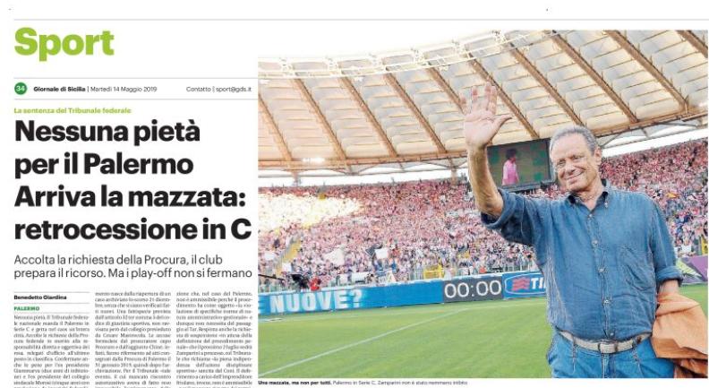 Il calcio e Il Giornale di Sicilia: i crack di Palermo