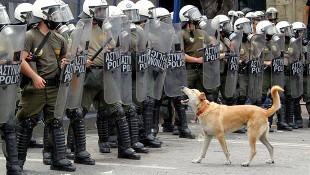 Il cane di Atene che si batteva contro l'Europa
