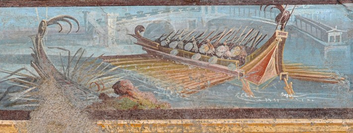 Fuga da Pompei, c'è un pezzo di Sicilia